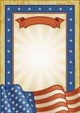 Ретро американская рамка Стоковые Фотографии RF