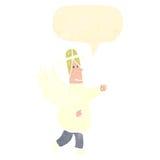 ретро ангел шаржа с пузырем речи Стоковая Фотография RF