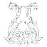Ретро барочный элемент украшений Стоковые Фотографии RF