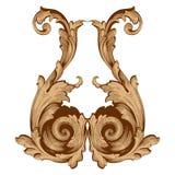Ретро барочный элемент украшений Стоковое Изображение