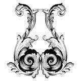 Ретро барочный элемент украшений Стоковая Фотография RF