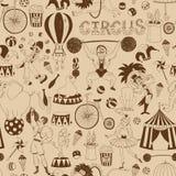 Ретро безшовная картина предпосылки цирка Стоковое фото RF