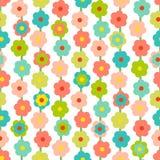 Ретро безшовная картина с малыми цветками бесплатная иллюстрация