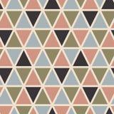 Ретро безшовная картина с треугольниками Скандинавский тип иллюстрация вектора