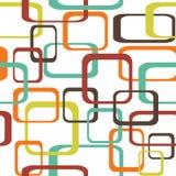 Ретро безшовная предпосылка картины при округленные квадраты - Стоковые Изображения