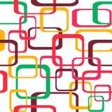 Ретро безшовная предпосылка картины при округленные квадраты - Стоковое Изображение