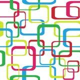 Ретро безшовная предпосылка картины при округленные квадраты - иллюстрация штока