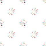 Ретро безшовная предпосылка с multicolor яркими кольцами Стоковое Фото
