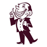 Ретро бизнесмен иллюстрация штока