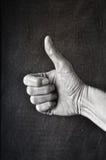 ретро большой пец руки вверх Стоковое Изображение RF