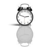 Ретро будильник показывая один час Стоковые Изображения