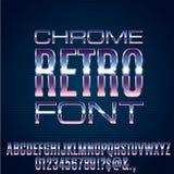 Ретро будущий шрифт Стоковое фото RF