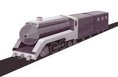 ретро быстро проходя введенный в моду поезд Стоковое Изображение