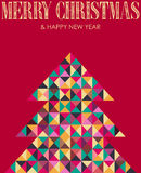 Ретро вал сосенки рождества мозаики Стоковая Фотография RF