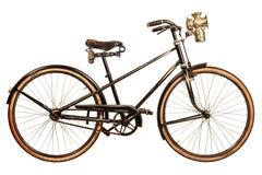 Ретро введенное в моду изображение велосипеда дамы девятнадцатого века Стоковые Фотографии RF