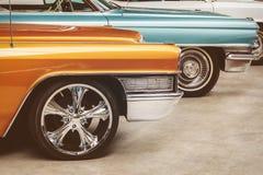 Ретро введенное в моду изображение винтажных американских автомобилей Стоковые Изображения