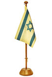 Ретро введенное в моду изображение малого флага Израиля стоковое изображение rf