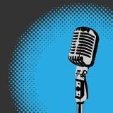 Ретро вектор 3 фары микрофона Стоковая Фотография RF