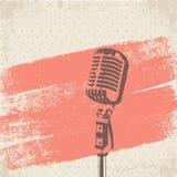 Ретро вектор щетки микрофона Стоковое Изображение RF