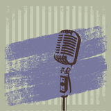 Ретро вектор 2 щетки микрофона Стоковые Фото