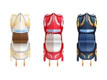 Ретро верхняя часть Cabriolet плоских автомобилей Стоковое Изображение