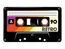 Ретро винтажная иллюстрация вектора кассеты на белой предпосылке бесплатная иллюстрация