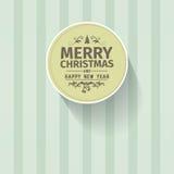 Ретро винтажная простая с Рождеством Христовым гринкарда приветствию вектора Стоковое Фото