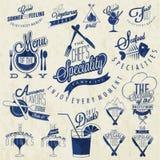 Ретро винтажные дизайны меню ресторана стиля. Стоковое фото RF