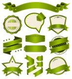 Ретро винтажный значок, ярлык и комплект знамени Стоковые Изображения RF