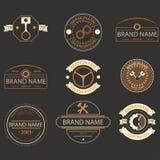 Ретро винтажный логотип, логотип брендов, дело подписывает Стоковые Изображения RF