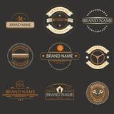 Ретро винтажный логотип, логотип брендов, дело подписывает Стоковые Изображения