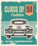 Ретро винтажный плакат - дизайн знака металла Стоковая Фотография