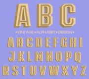 Ретро вид шрифта, винтажное оформление Стоковая Фотография