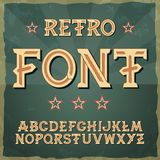 Ретро вид шрифта, винтажное оформление, Illustratiom EPS10 вектор алфавита для ярлыков, названий, плакатов etc Стоковая Фотография RF