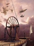 Ретро воздушные судн Стоковая Фотография