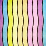 Ретро волнистая картина Стоковое фото RF