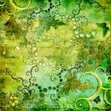 Ретро в зеленых цветах иллюстрация штока