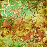 Ретро в золотист-зеленых цветах иллюстрация штока
