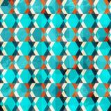 Ретро геометрический grunge безшовный Стоковое фото RF