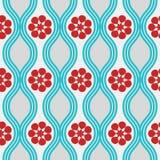 ретро голубой картины красное Стоковое Фото