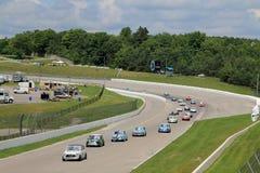 Ретро гонки автомобилей Стоковое Изображение
