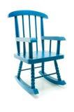 Ретро голубая кресло-качалка в белой предпосылке Стоковые Фотографии RF