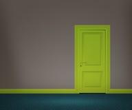 Ретро дверь в стене Стоковое Изображение