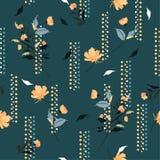 Ретро дуя сад цветет на винтажном настроении с ge нарисованным рукой бесплатная иллюстрация