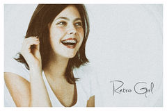 Ретро девушка Стоковые Изображения RF