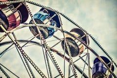 Ретро езда колеса Ferris Стоковая Фотография