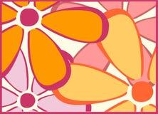 Ретро желтый цвет цветет Backgroun стоковое изображение rf