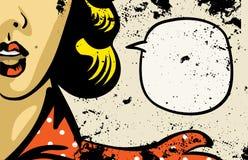 Комиксы женщины ретро Стоковое фото RF