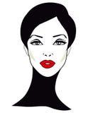 Ретро женщина - ретро искусство зажима Стоковое фото RF
