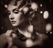 Ретро женщина Стоковые Изображения